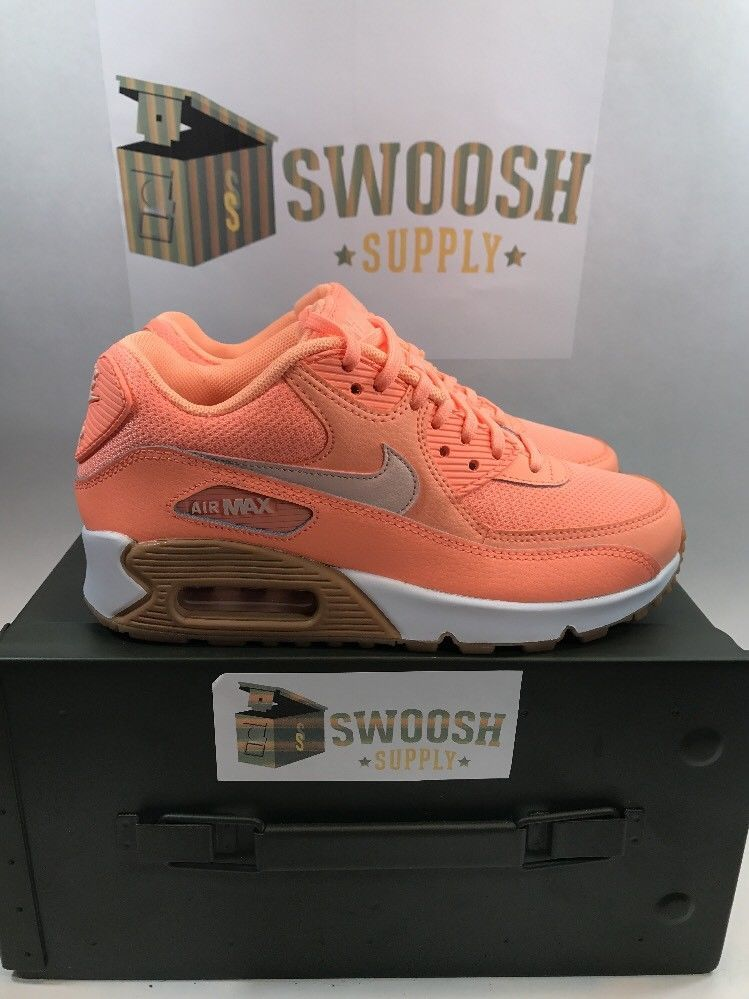 presenting delicate colors best supplier Nike Air Max 90 SUNSET GLOW TINT ORANGE PINK FLAMINGO 325213 ...