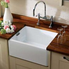 RAK 600 Gourmet Ceramic Belfast Butler Kitchen Sink with Weir ...