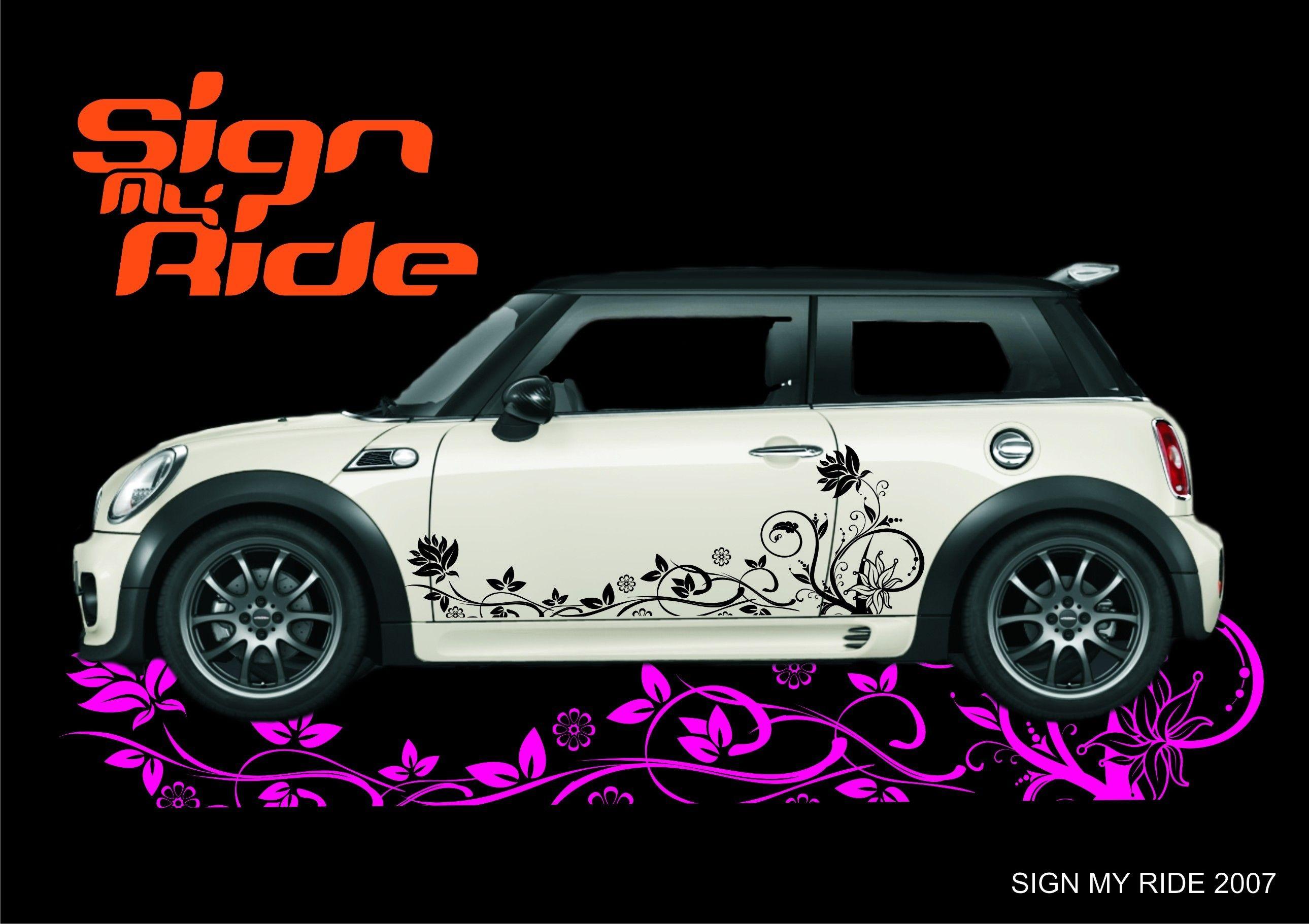 Car Side Stripes For Mini Cooper Car Decals Car Stickers Vinyl Racing Stripes