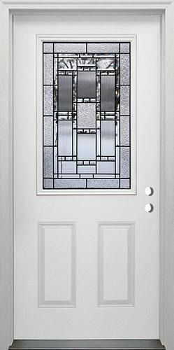 Mastercraft® Venice X Steel Half Lite Prehung Exterior Door   Left Inswing.