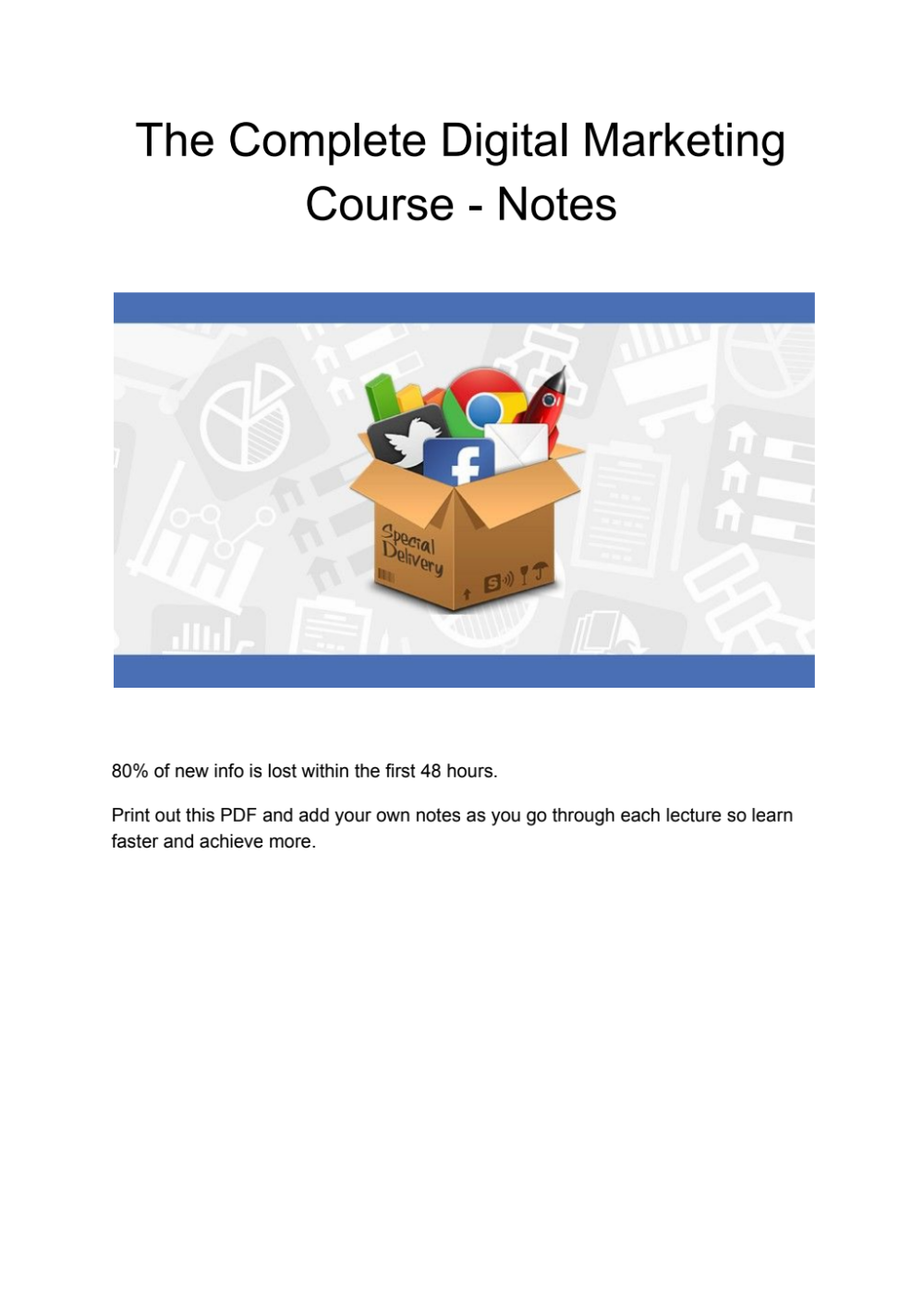 Rhyme's acquisition cost, andrew ng's deeplearning.ai revenue, no. Notes - Complete Digital Marketing Course.pdf - Google ...