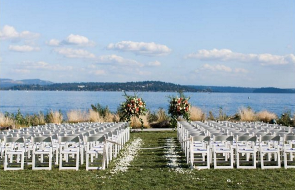 Our White Folding Chairs are perfect for outdoor ceremonies and events.