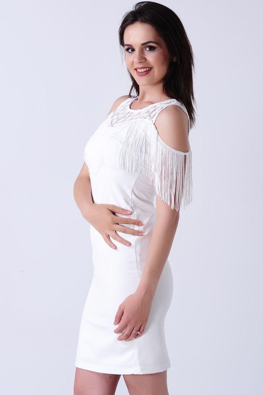 a36e68dabb673 Omuz Açık Püsküllü Beyaz Elbise #giyim #indirim #kampanya #bayan #erkek  #bluz #gömlek #trençkot #hırka #etek #yelek #mont #kaşe #kaban #elbise  #abiye ...