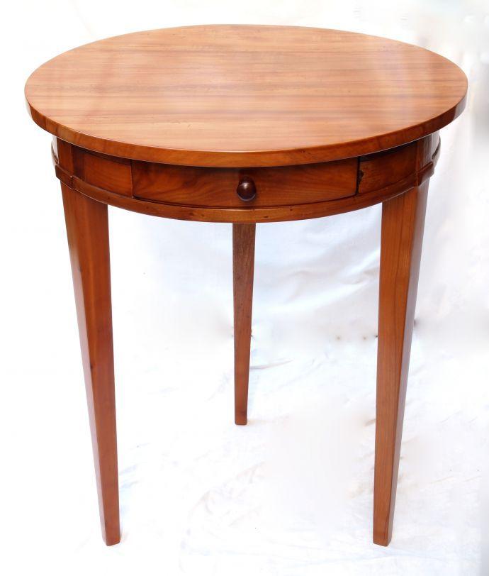 verkauft kleiner tisch kirschbaum biedermeier antiquit ten haus heymann gmbh antik. Black Bedroom Furniture Sets. Home Design Ideas
