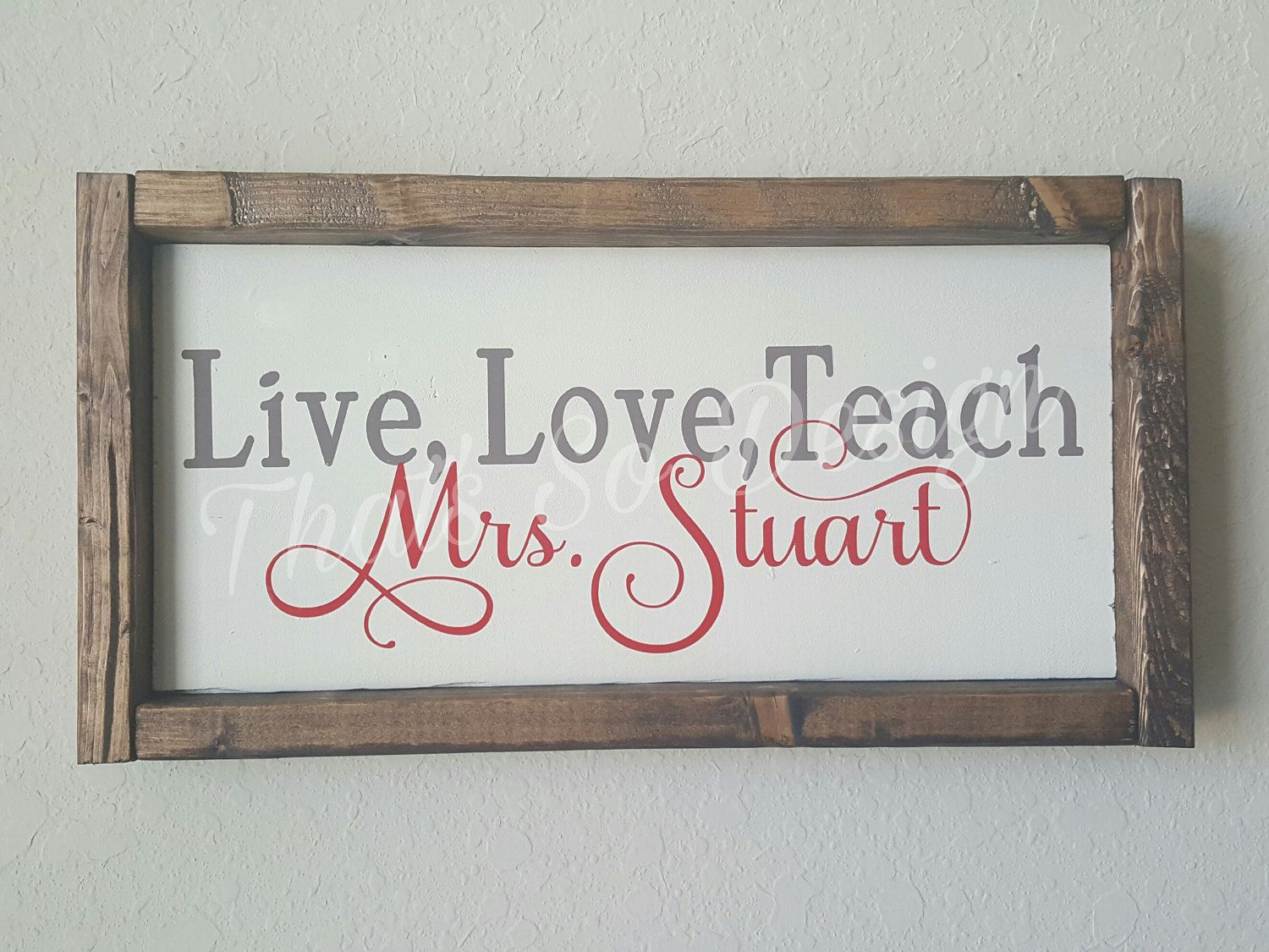Teacher Sign For Wood Repurposed Circuit Boards Recycled Board Clipboards Live Love Teach Gift Appreciation Wooden Framed By Thatssodesign On Etsy