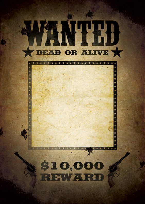 Most Wanted Poster Template Create Your Own