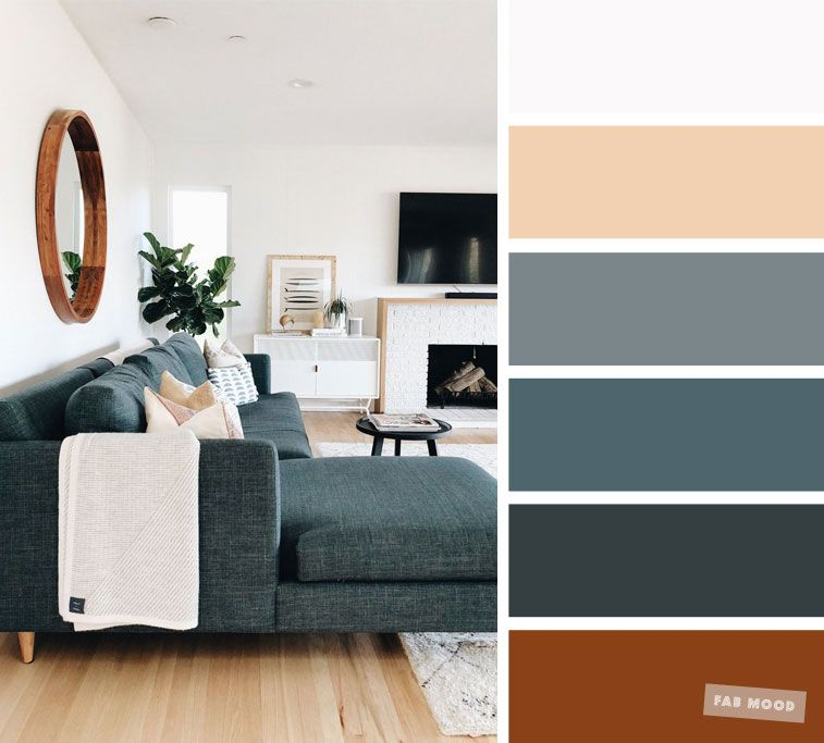 The best living room color schemes - Dark Green Grey & Taupe Palette