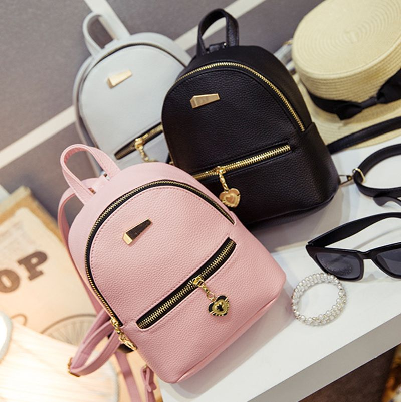 aef3214f9148 New Shoulder Bag Mini Backpacks Women Leather school bag women s Casual  style backpack purses bags for teenagers