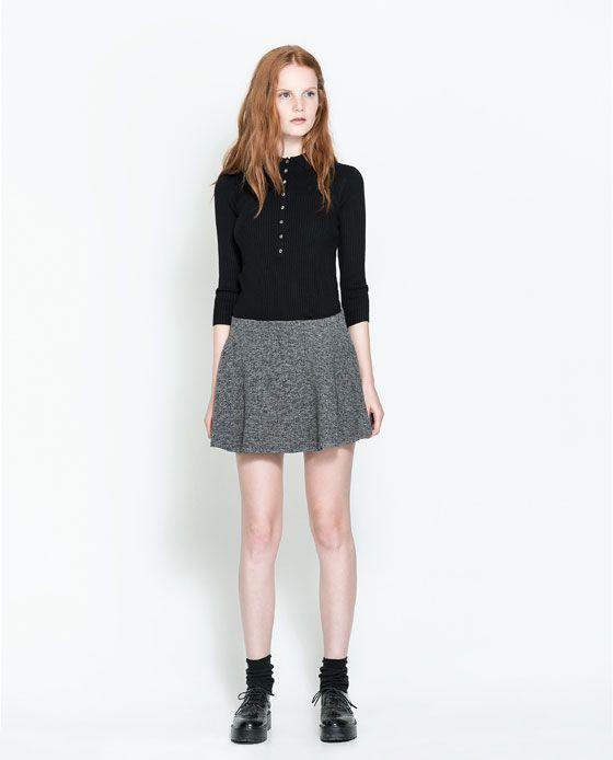 f5e6af51c4 Imagen Pinterest Faldas Zara Fashion Falda 1 De Punto qzwq1A4