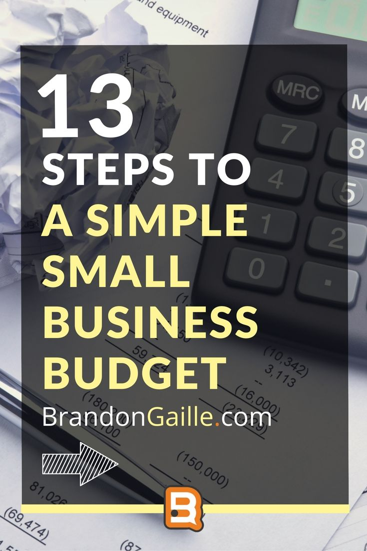 A Simple Small Business Budget Template  Budget Template