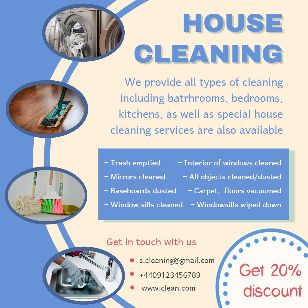 cleaning service advertisement template