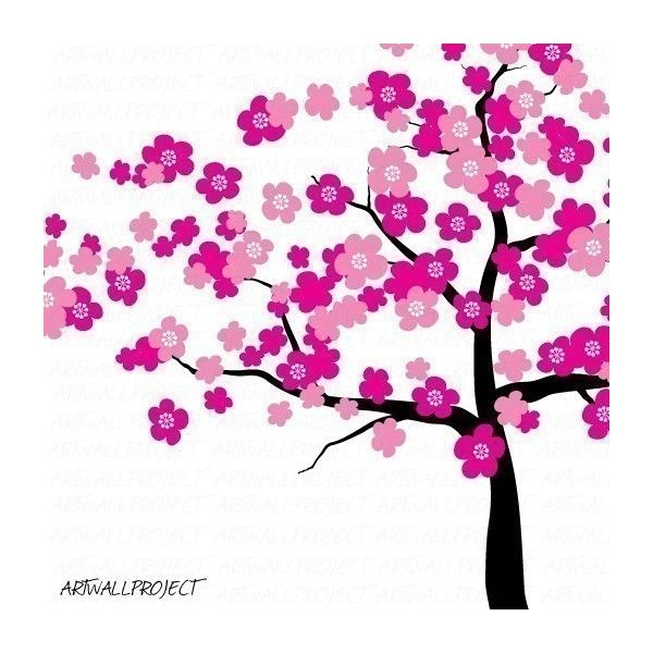 Wall Art Vinyl Decal - Cherry Blossom Tree - Wall Decals - by artwallproject - DaWanda, found on #polyvore. #backgrounds #trees #art #decoration