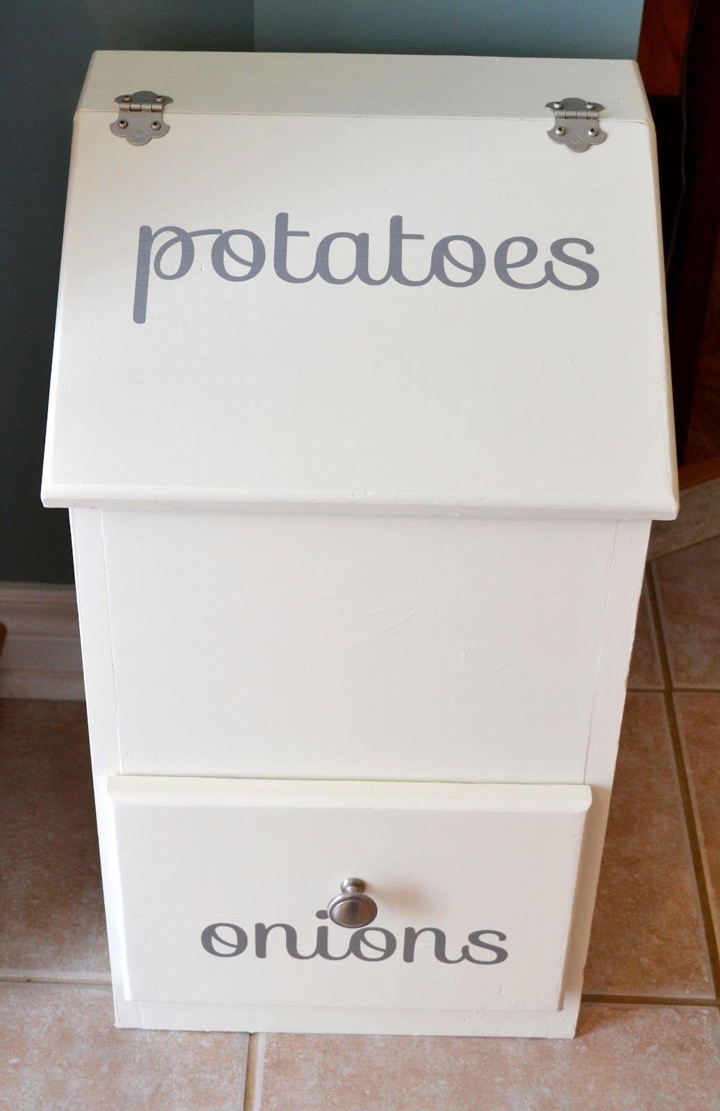 updated potato bin | diy home | Pinterest | Potato bin, Pantry and ...