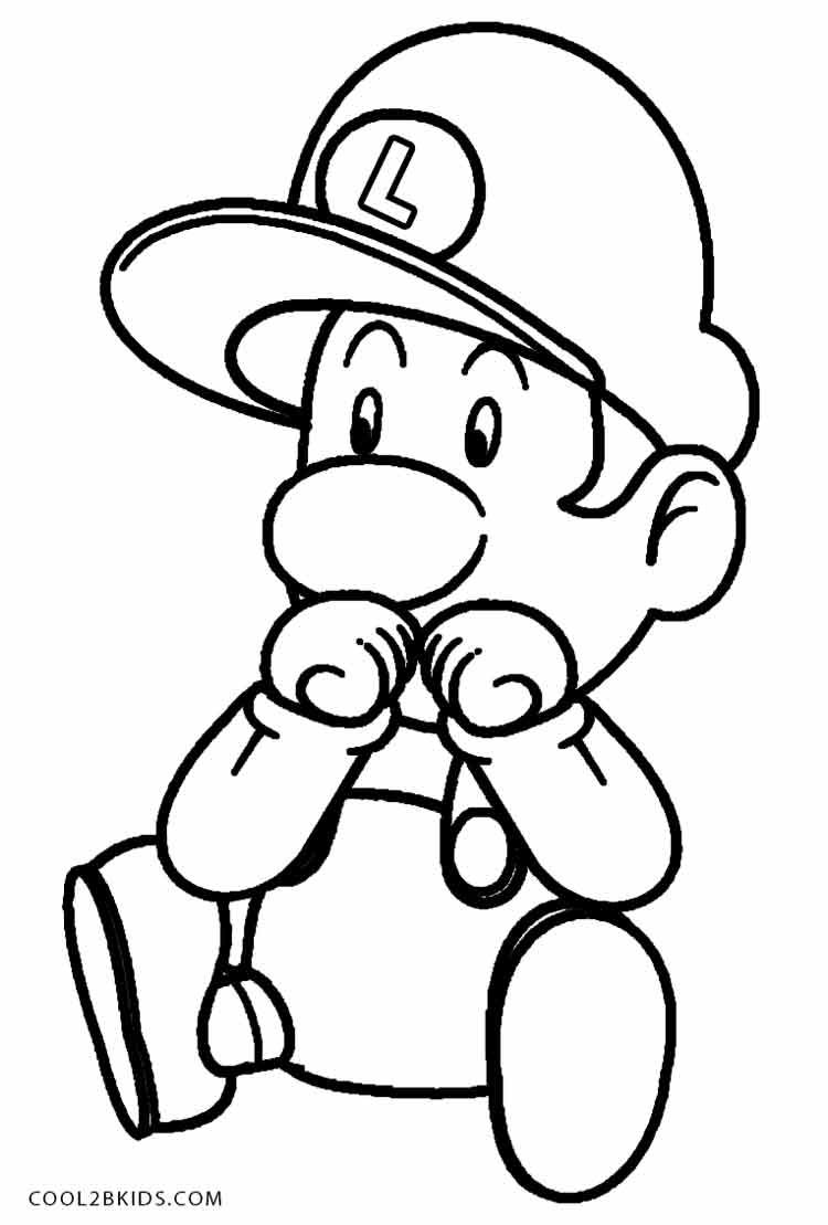 luigi coloring pages  coloring pages inspirational