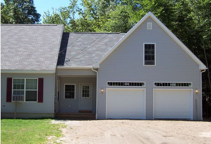 2 Story 2 Car Garage Attached With Breezeway Mudroom