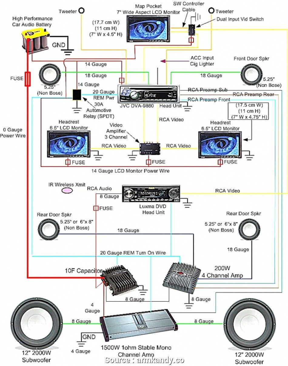 4 Channel Amp Wiring Schematic And Wiring Diagram Car Stereo Systems Car Audio Car Audio Installation
