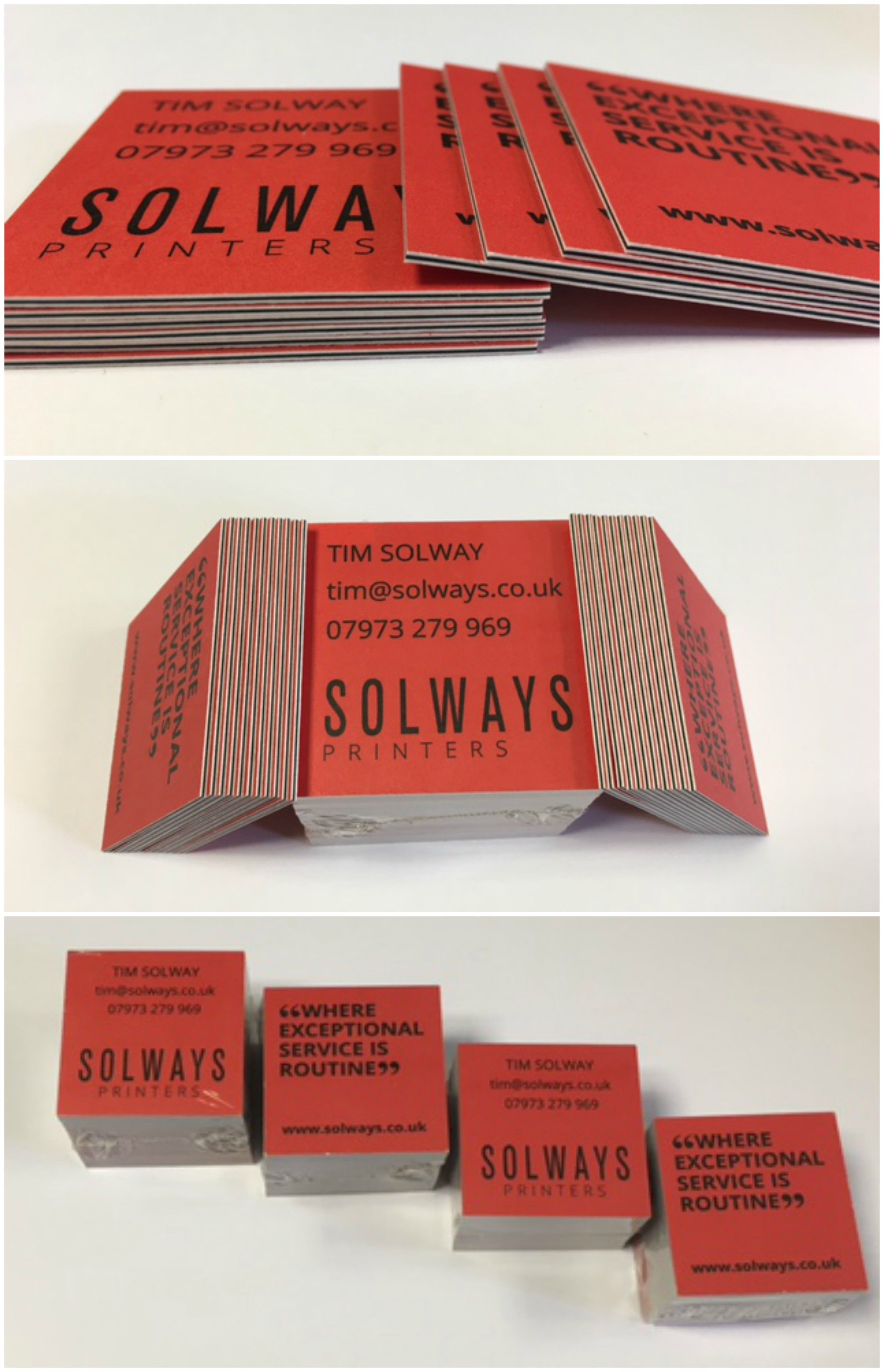 Square Triplexed 900gsm Business Cards