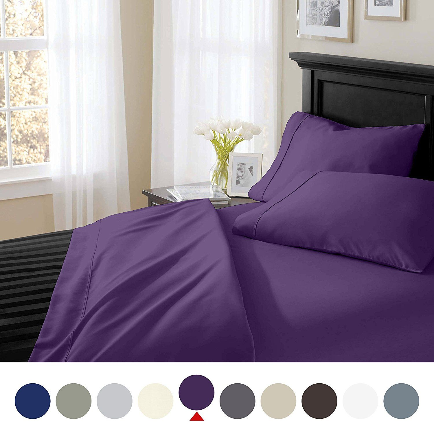 Bamboo Comfort 1800 Series Micro Bamboo 4 Piece Bed Sheet Set