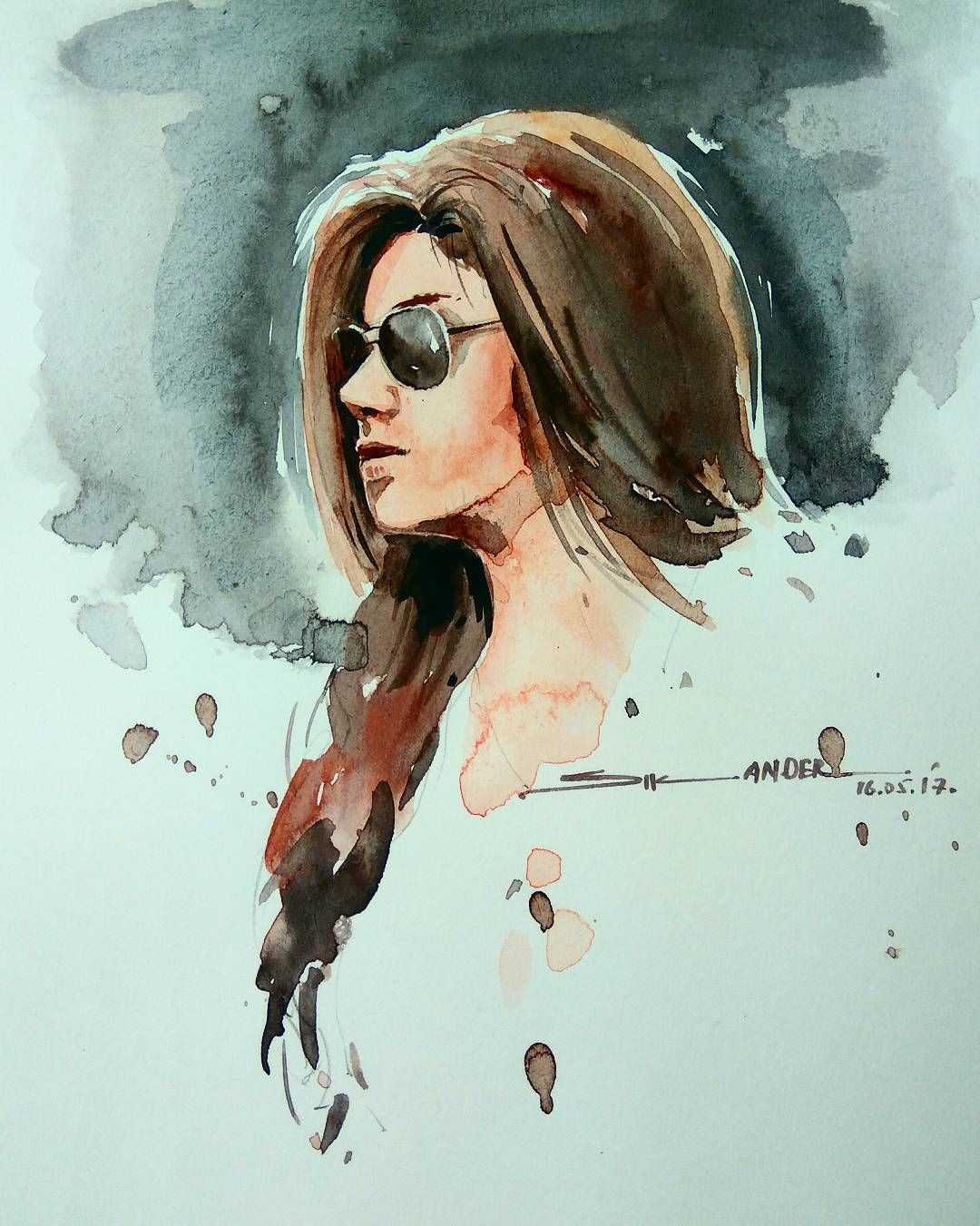 Watercolorpainting Watarcolor Watercolour Portrait Painting