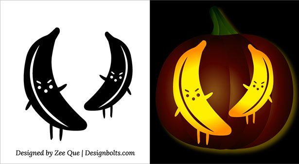 FreePrintableHalloweenMinionBananaPumpkinCarvingStencils