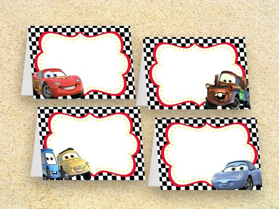 Cars Party Food Labels Instant Download Cars Birthday Cars