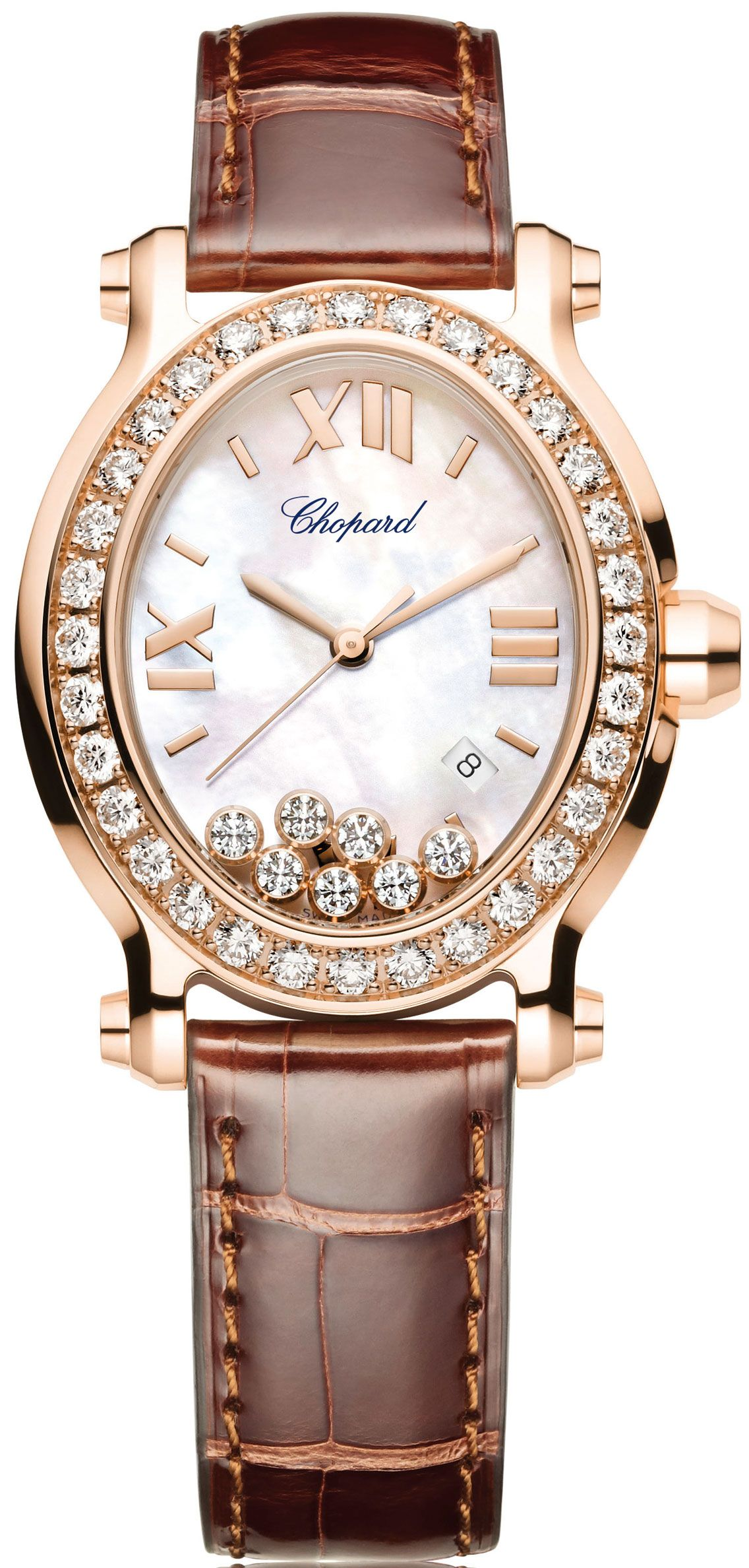 Chopard Happy Sport Oval 11,595 yellow Gold case with