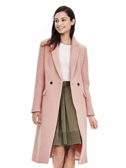 Pink Double-Breasted Coat | Work It | Pinterest | Coats, Banana ...