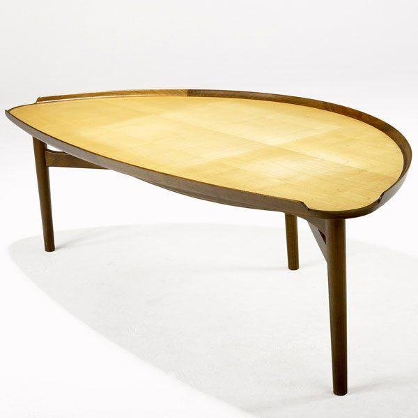 813: FINN JUHL / BAKER Walnut Coffee Table On