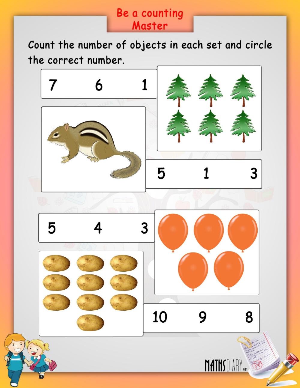 Lkg Maths Worksheets & colouring worksheets lkg math