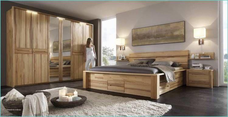 Bett Holz Komplett Mit Kopfteil Aus Massivholz Lackiert in