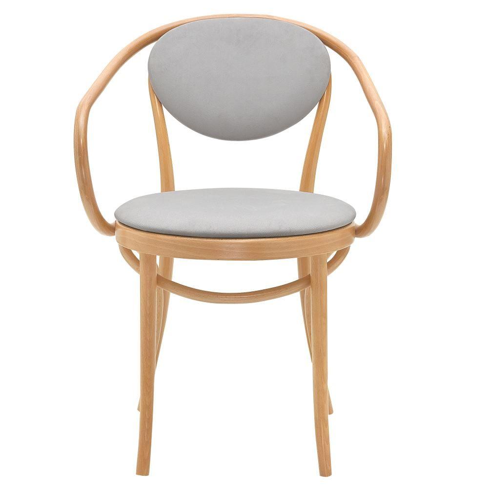 Avec De Style Hêtre Bistrot Chaise En AccoudoirsStructure Bois WxdCorBe