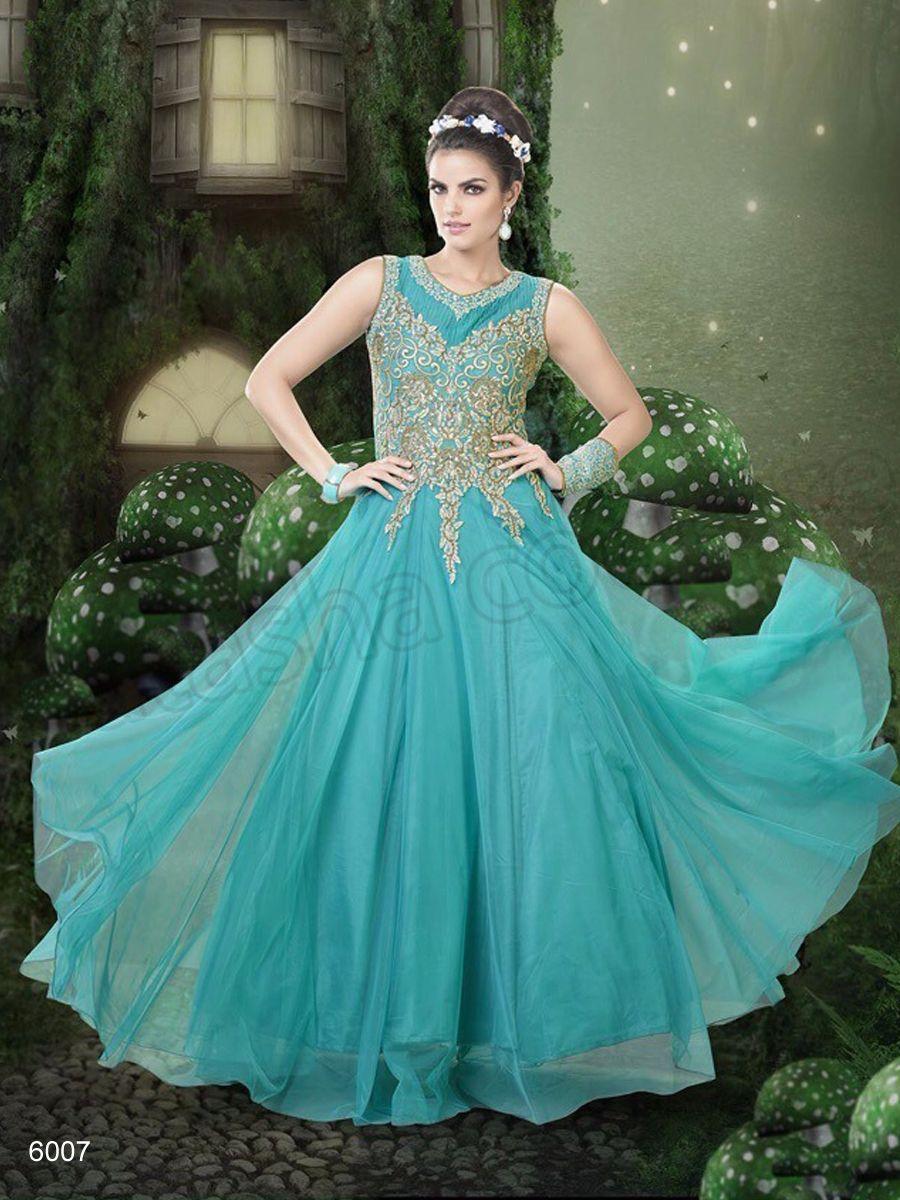 Designer Gowns#Blue Net Gown #Indian Wear#Desi Fashion #Natasha ...