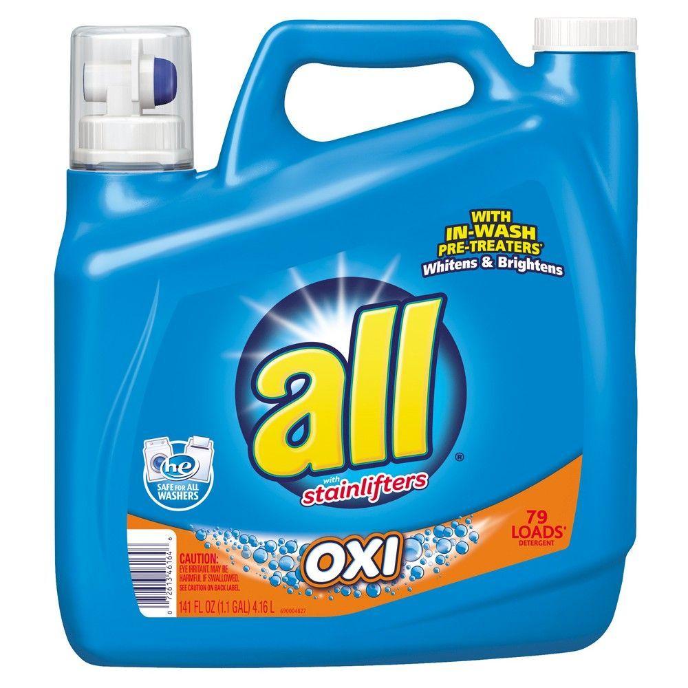 All Stainlifter Oxi Liquid Detergent 141oz Laundry Detergent