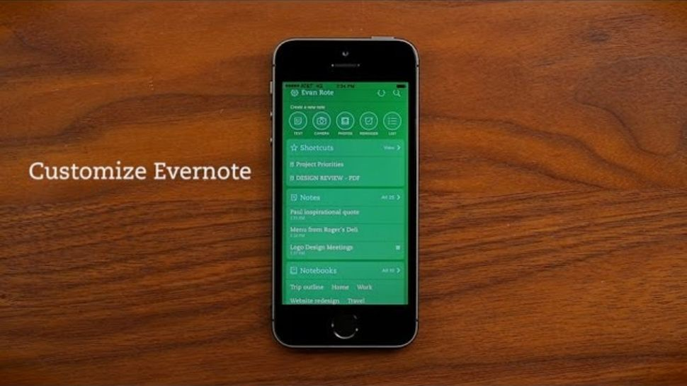 Evernote for iOS Adds Customizable Home Screens, Color Themes, More - scan to spreadsheet app iphone