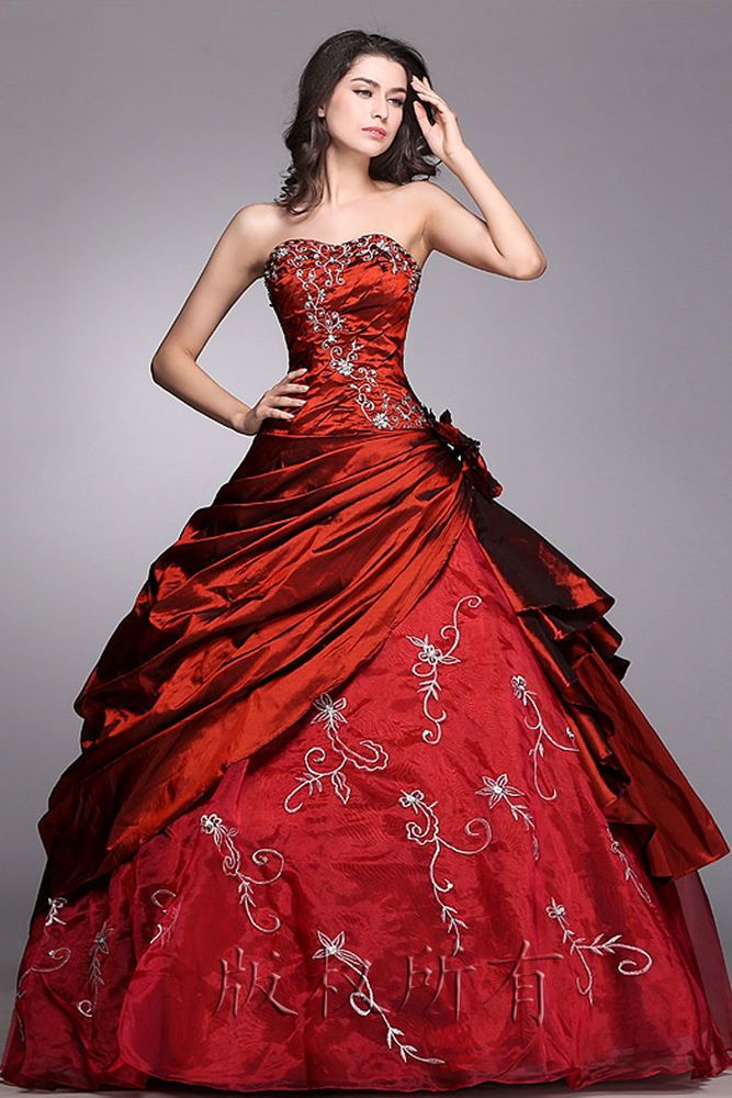 Burgundy Womens Bridesmaid Evening Dress Party Formal Prom Gown Uk