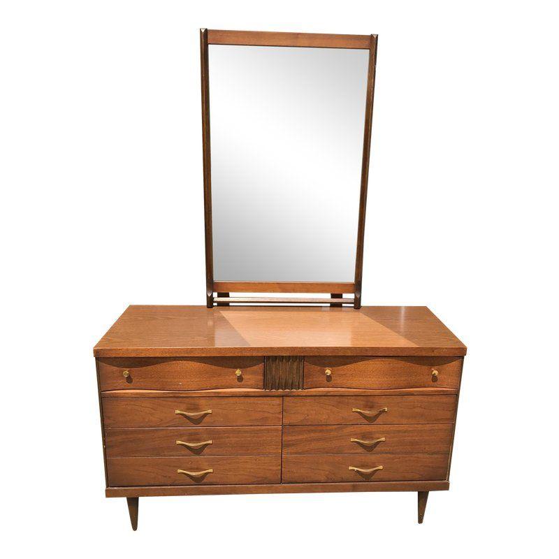 Best Mid Century Modern Bassett Dresser With Mirror Dresser 400 x 300