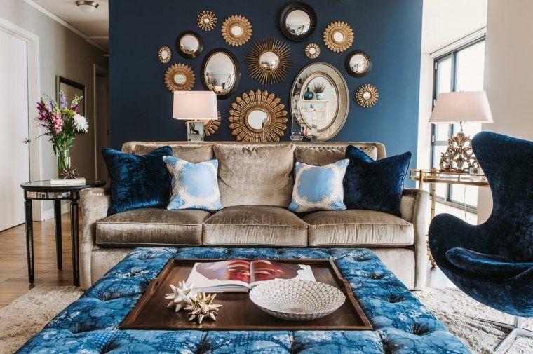 Salon deco salon bleu petrole : Afficher l'image d'origine | Inspiration salon | Pinterest