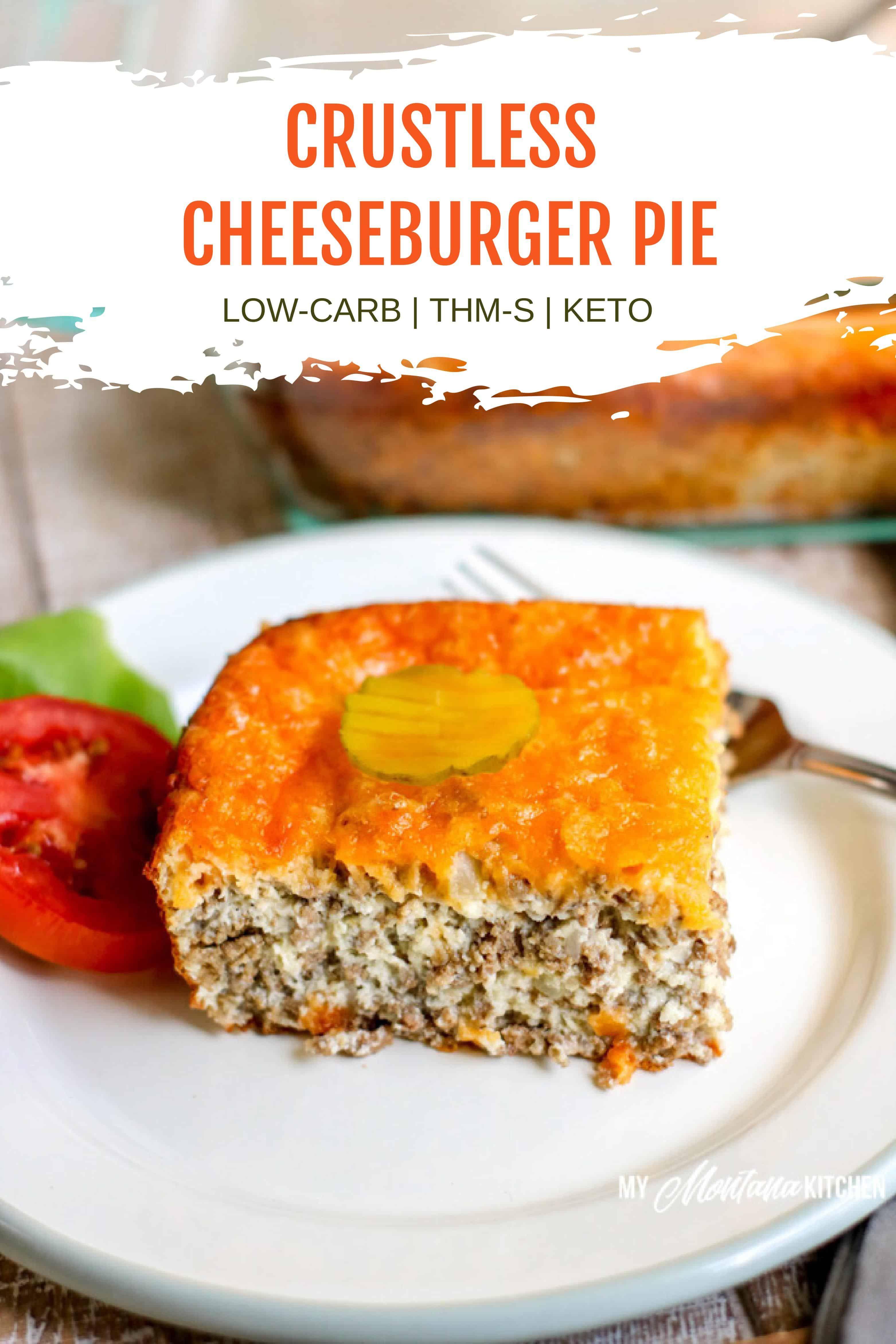 Crustless Cheeseburger Pie | Easy, Keto, Slow Cooker, THM