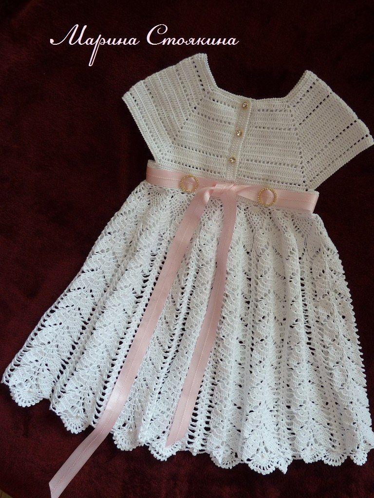 Patrones para hacer vestidos a crochet para nina05 | gisela ...