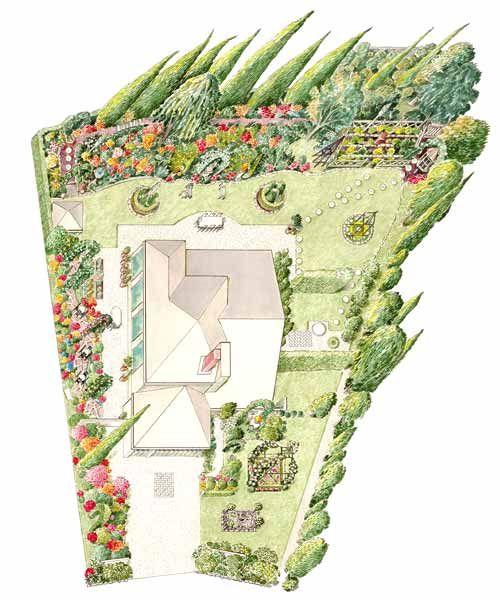 Home Improvement And Remodeling This Old House Landscape Plans Sloped Garden Backyard Design
