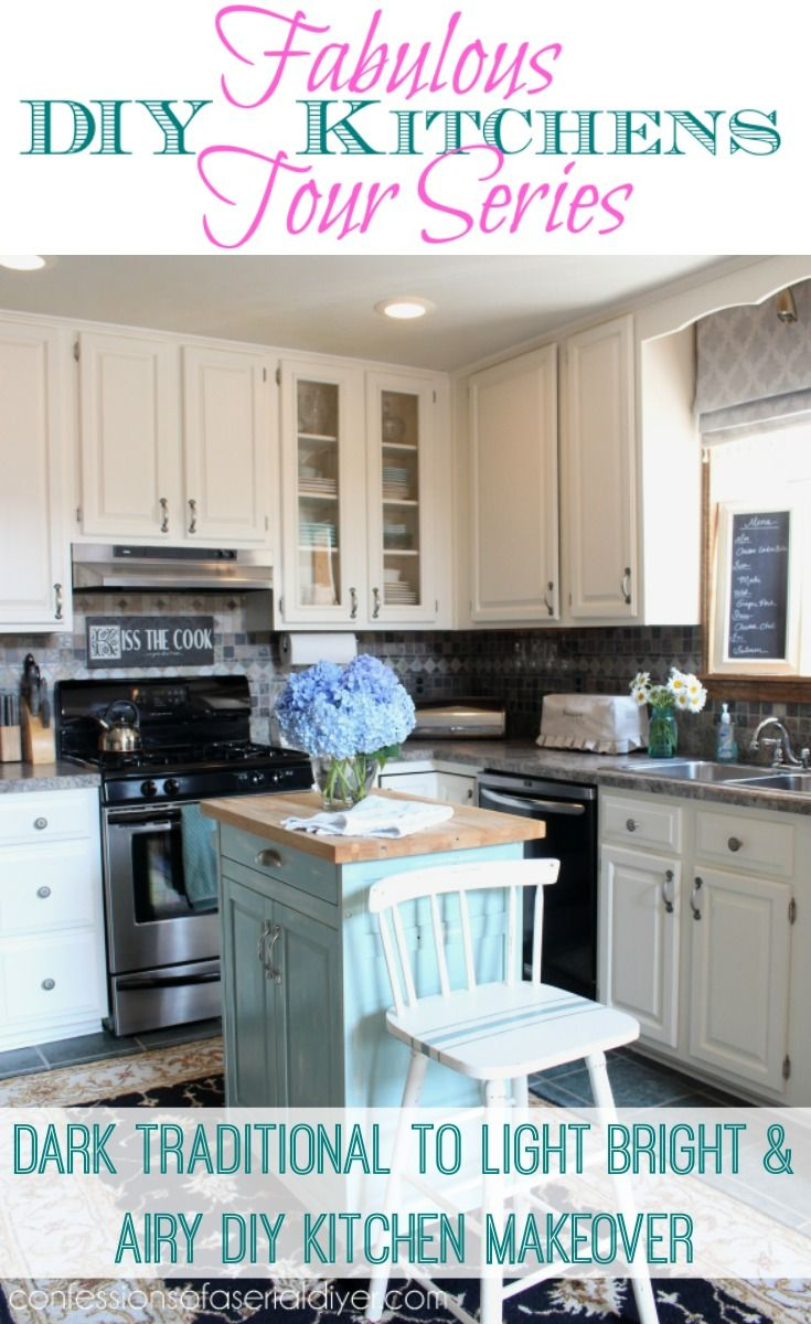 dark traditional to light bright airy kitchen makeover