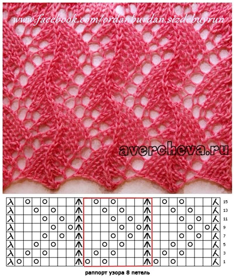 lace knitting pattern graph … | Pinteres…
