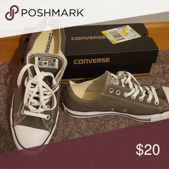 Brand new converse Brand new gray unisex converse. Size 12 women or size 10  men Converse Shoes Sneakers 15b7b69a9