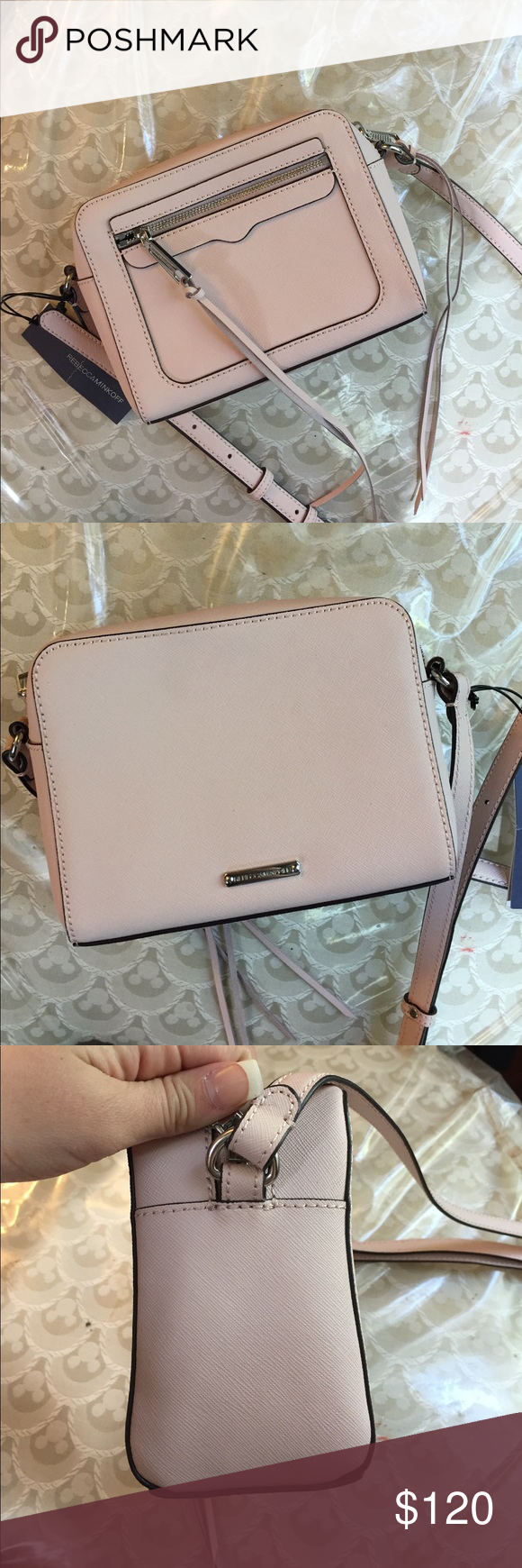 NWT Pale Pink Rebecca Minkoff Handbag Brand new super cute Rebecca minkoff Avery Camera bag! Never been worn and still has original tags so there is absolutely no damage to the bag whatsoever. Is a light pink color with silver hardware and black interior. Such a steal! Rebecca Minkoff Bags Mini Bags
