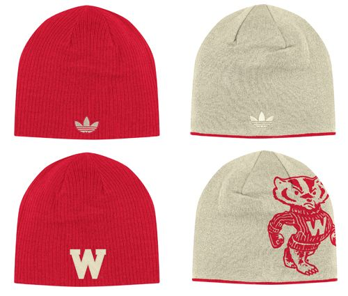 f67ea0284f Wisconsin Badgers adidas Retro Reversible Knit Hat | All Things ...