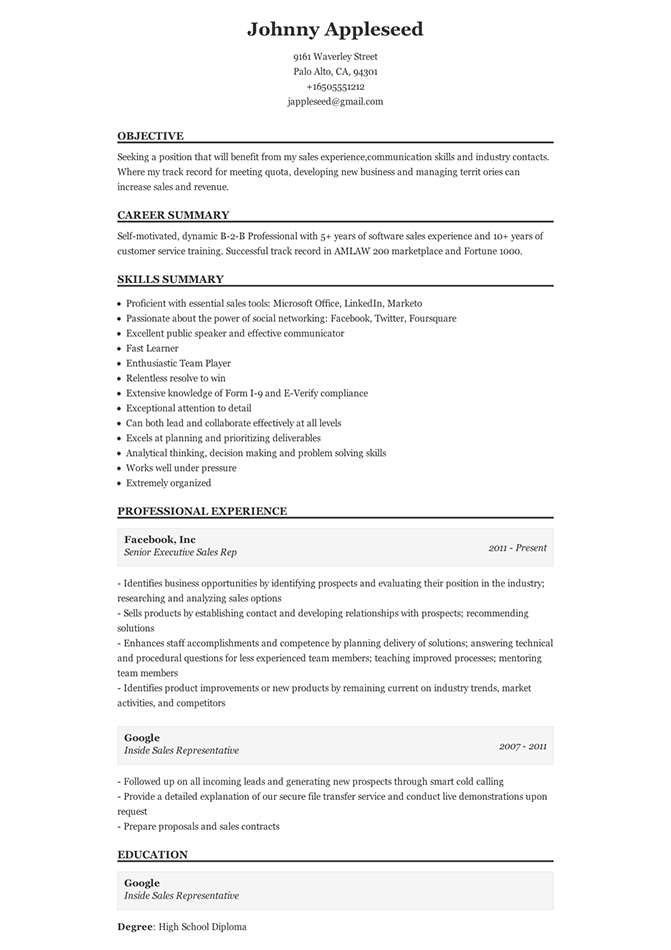 Sample Of A Traditional Resume Add More Colors To Your Resume And