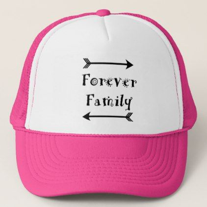 Forever Family - Adpotion Design Trucker Hat - family gifts love personalize gift ideas diy