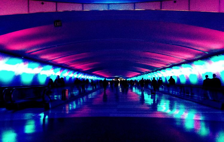vanishing point at the Detroit Airport