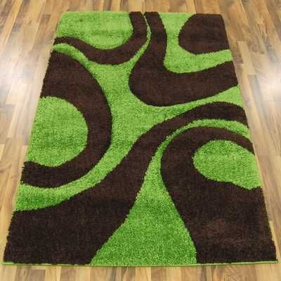 Fashion Carving 4263a Green Brown Rugs Online At Modern Uk