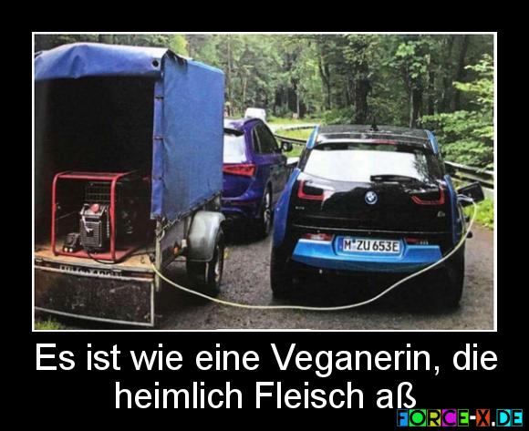 Es ist wie eine Veganerin, die heimlich Fleisch aß #veganerin